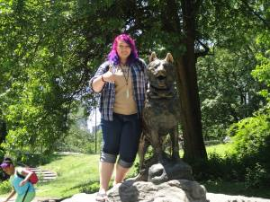 Lucy with Balto