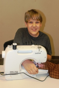 3-20-15 Jasper sewing