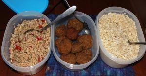 10-22-15 tabouli, falafel, rice