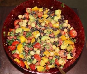 10-8-15  Peruvian bean salad