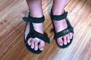 4-4-16 Jasper's sandals