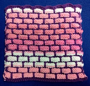 Pink dishcloth
