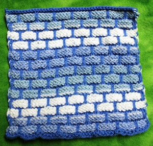 Blue dishcloth