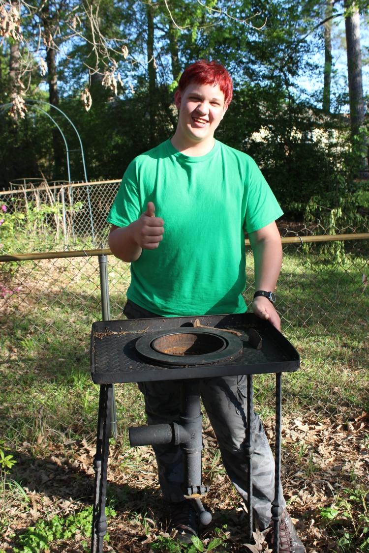 3-30-18 Jasper's new forge