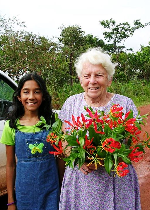 Miss Hoyte with Flame Lilies